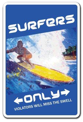 [signjoker] surfistas aparcamiento única señal ~ ~ tablas de surf Surfer cera regalo placa