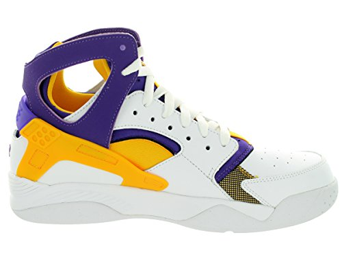 Air Flight Huarache bianco / università oro / crt Prpl scarpa da basket 8 US