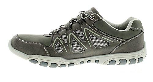 Herren Spitze Verschluss Lifestyle Schuhe - grau - UK Größen 6-12