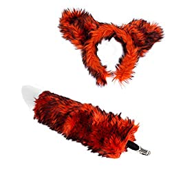 Tigerdoe Ears Tail Set - Wolf Ears Headband - Fox Costume - Animal Costume Accessories