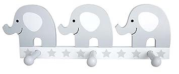 JaBaDaBaDo R16021 - Colgador de Elefante, Color Gris