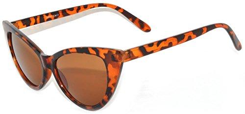 Fashion Style Vintage Cat Eye Sunglasses Leopard Frame Brown - Cat Frames Eye Online