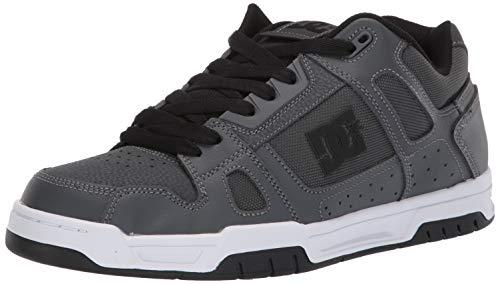DC Men's STAG Skate Shoe, Dark Grey, 11 M US