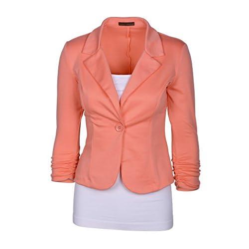 Wholesale Enlishop Women's 3/4 Sleeve One Button Casual Work Office Blazer Jacket hot sale