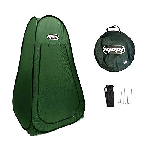 MMG Portable Lightweight Pop-Up Tent Dressing Room, Mobile Toilet, Fishing Tent, Private Shower Tent Use Indoor/Outdoor. 7 Feet Height. Foldable, Carrying Bag Included (Green)