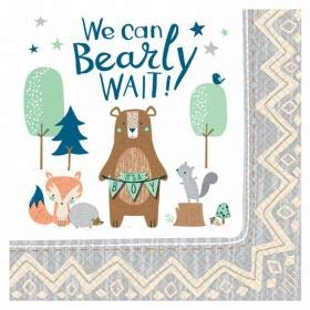 Price comparison product image Amscan Bear-ly Wait Luncheon Napkins (16 ct)