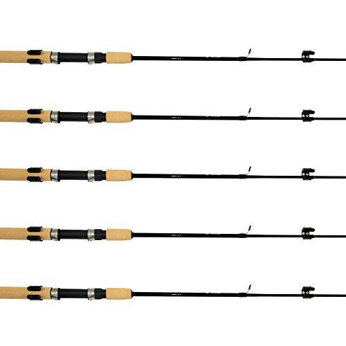 SAMSFX Horizontal Fishing Rod Rack Storage Clip Fishing Rod Holders 5 Sets w/ Screws & Screwdriver