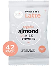 Stir Almond Milk Latte Mix - Instant Latte Mix with Non Dairy Creamer - Vegan Latte Coffee - Gluten Free Latte Instant Coffee Mix - 42 x 18g Individual Sachets