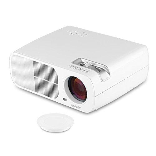 Uhappy 2600 lumens mini led projector for iphone ipad for Led projector ipad