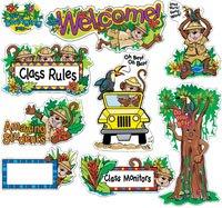 Rain Forest Welcome Bulletin Board (Rainforest Bulletin Board Set)