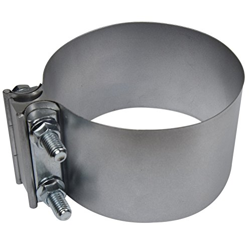 4'' Butt Joint Exhaust Band Clamp - Aluminized Steel for 4'' OD to 4'' OD Exhaust Pipe Connection by RoadFormer