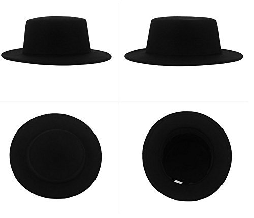 08e2ae45c44 Women s Wide Brim Elegant Classic Wool Blend Fedora Hat Brim Flat Church  Derby Cap at Amazon Women s Clothing store