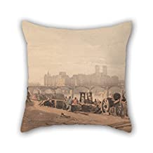 Throw Pillow Case 20 X 20 Inches / 50 By 50 Cm(two Sides) Nice Choice For Outdoor Son Monther Kids Room Bar Seat Adults Oil Painting Richard Parkes Bonington - Ile De La Cite