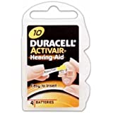 Duracell Hearing Aid Batteries Size 10 pack 40 batteries