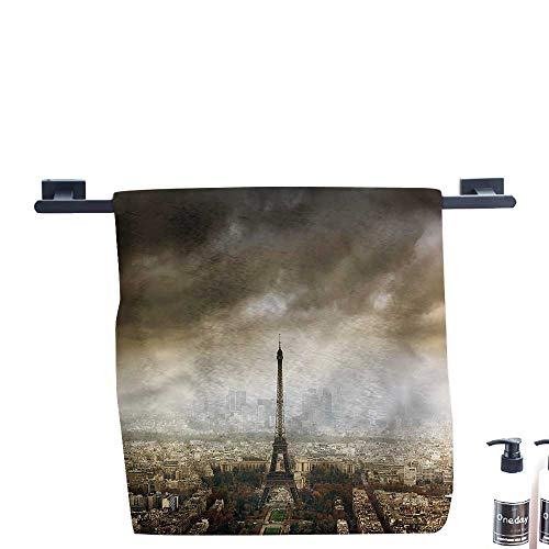 HoBeauty Pool Gym Towels,Eiffel-Tower,Paris-Skyline-City.,Good Ideal for The Kid's Room, a Guest roomMeasures 20 x 20 inch. -