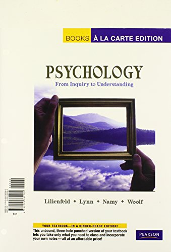 Psychology: From Inquiry to Understanding (Books a la Carte)