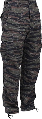Tiger Stripe Camouflage Military BDU Cargo Bottoms Fatigue Trouser Camo ()