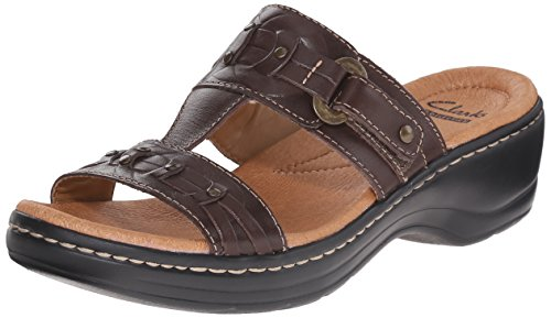 Clarks Women's Hayla Young Dress Sandal, Brown, 10 M US