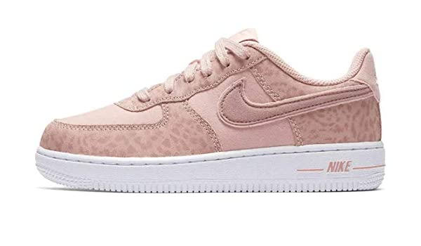 Nike Girls Air Force 1 LV8 (PS) Coral StardustRusty Pink White Sneaker AH7529 600 (12 US Little Kid)