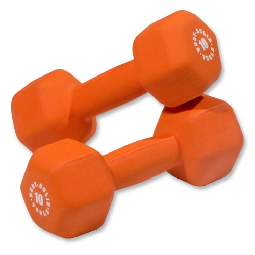 Pair of 10lb. Neoprene Dumbbells - Orange by Body-Solid