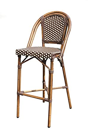 Plantation Prestige Commercial Furniture 2140300 0280 CAYMAN Bar Stool,  Aluminum/Pac/Weave