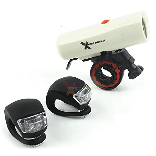 Xtreme Bright Ultra Torch LED Bike Light Set; Powerful, Durable 250 Lumen Combination Bike Headlight -Taillight Safety for The Serious Biker Review