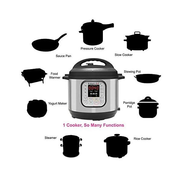 Instant Pot IP-DUO60 Pentola elettrica a pressione, programmabile, 7-in-1, 5.7 litri, 1000W, acciaio inox - versione… 2