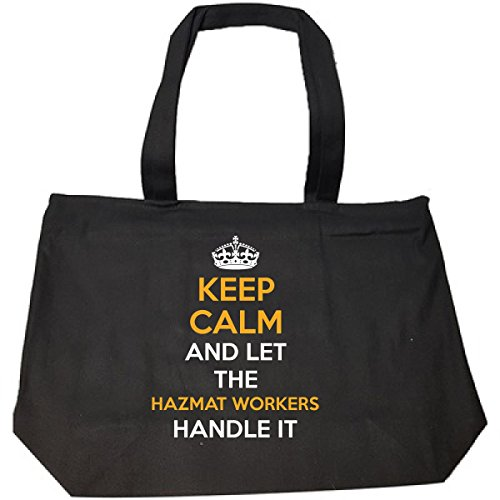 Hazmat Handle - Keep Calm And Let The Hazmat Workers Handle It Cool Gift - Tote Bag With Zip