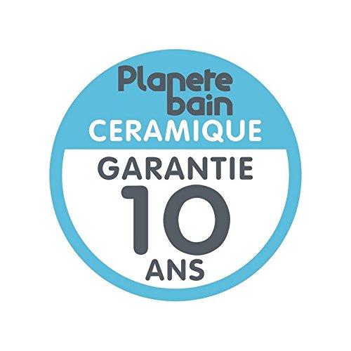 PlaneteBain Pack WC 100/% NF avec abattant d/éclipsable