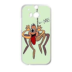 Crazy Spider Image On Back Phone Case For HTC One M8