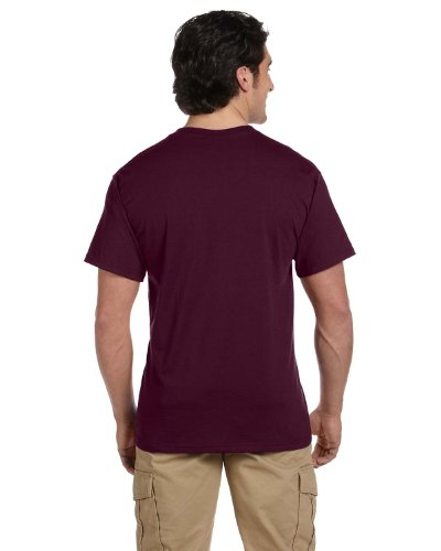Jerzees 5.6 oz., 50/50 Heavyweight Blend Pocket T-Shirt, XL, MAROON