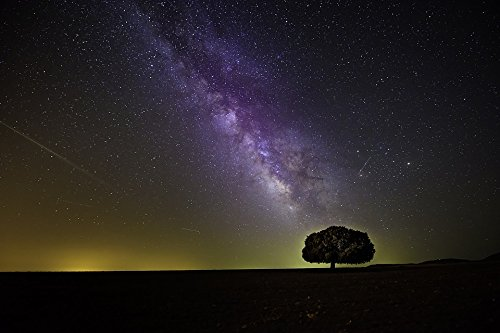 Home Comforts Framed Art for Your Wall Milky Way Night Dark Cosmos Hd Wallpaper 10x13 Frame ()