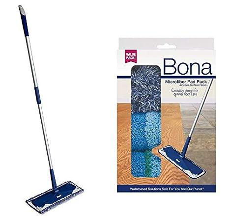 Amazon.com: Bona piso de microfibra fregona + Bona 3 piezas ...