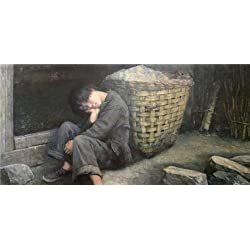 The High Quality Polyster Canvas Of Oil Painting 'a Sleeping Boy' ,size: 16x33 Inch / 41x84 Cm ,this High Resolution Art Decorative Canvas Prints Is Fit For Basement Decoration And Home Gallery Art And Gifts