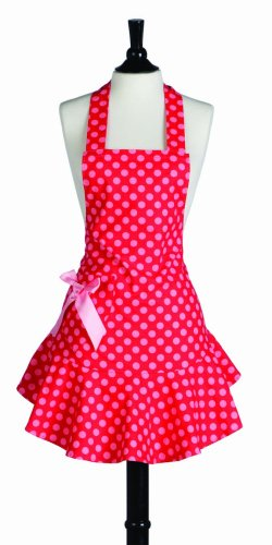 Jessie Steele Bib Josephine Red & Pink Polka Dot Apron