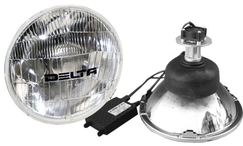 """Price comparison product image Delta Lights (01-1129-LED2) 5.75"""" Round LED Headlight System with Classic Style Lens for High Beam - Pair"""