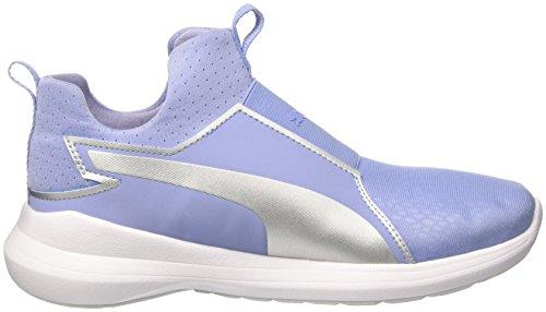 puma Silver lavendar Basses Wns Summer Rebel Femme Lustre Sneakers Puma Mid Bleu 03 fUOSw1v