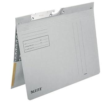 Leitz 20120085 A4 Cartón Gris archivador colgante - Carpeta (A4, Cartón, Gris, 265 mm, 2 mm, 318 mm): Amazon.es: Oficina y papelería