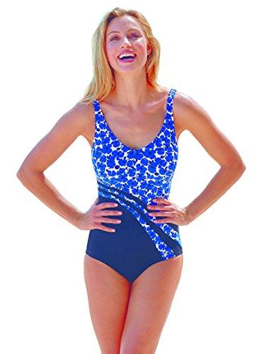 Anita Care Womens Dirban Swimsuit, 12E, French Blue