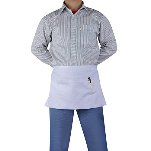 (Price/2 PCS) Opromo 3-Pocket Polyester Cotton Waist Apron, 22.5