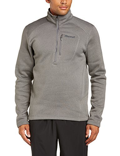 [Marmot Drop Line 1/2 Zip Long Sleeve Shirt - Men's Cinder X-Large] (Marmot Mens Work Gloves)