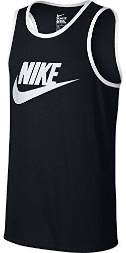 Nike Mens Ace Logo Tank Top Black/White 624314-011 Size 2X-Large