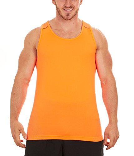 Mens Clothing Running Singlets (ASICS Men's Reflective Print Running Singlet (Medium, Orange/Flint))