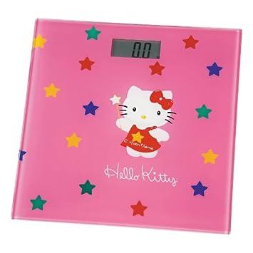 Hello Kitty Báscula de baño digital superficie cristal rosa