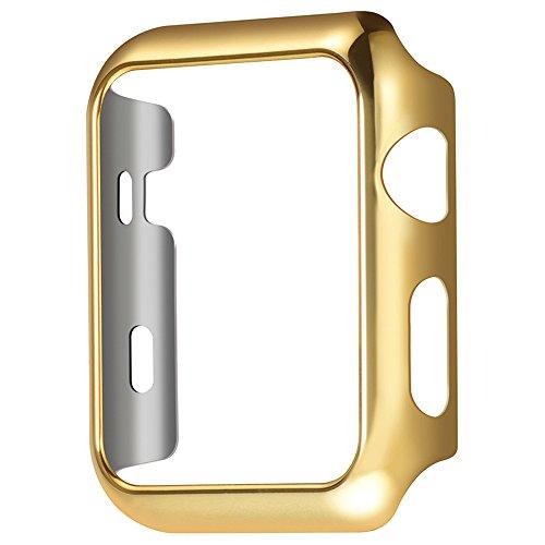 Apple Watch Series 2 Case, TitanFan Electroplate PC Hard Protective Case for Apple Watch Series 2 All Models 2016 (Gold, 38MM)