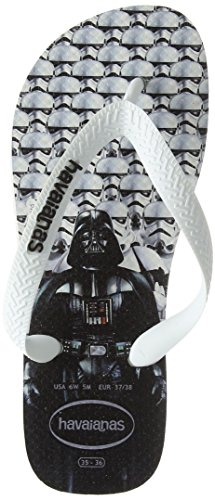 Havaianas Imprimee Tongs Homme/Femme Stars Wars Multicolore (White/white)