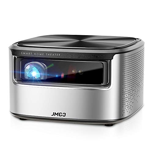 JMGO N7 Native 1080P Projector, 4K Supported, 1400 ANSI Lumen, HDR 10, Auto Focus, Keystone Correction,DLP, Dolby, 3D, WiFi, Smart Home Cinema Video Projector