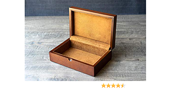 KeepsakeStash Box midsize -Handcrafted from Ambrosia Maple and Wenge Accents with Brass Barrel Hinges-FREE Basic Custom Laser Engraving
