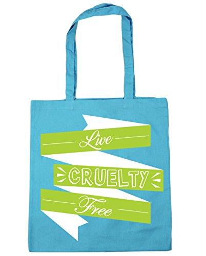 x38cm 42cm 10 Cruelty litres Live Shopping Blue Gym Free Surf Beach Tote Bag HippoWarehouse Zzwq8