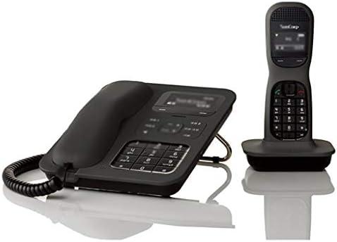 デジタル電話 100%迷惑電話は、ブロッキングの3ウェイ呼び出し、発信者IDと2.4Gデジタルコードレス電話、ポータブルデスクトップ、 (Color : Black)